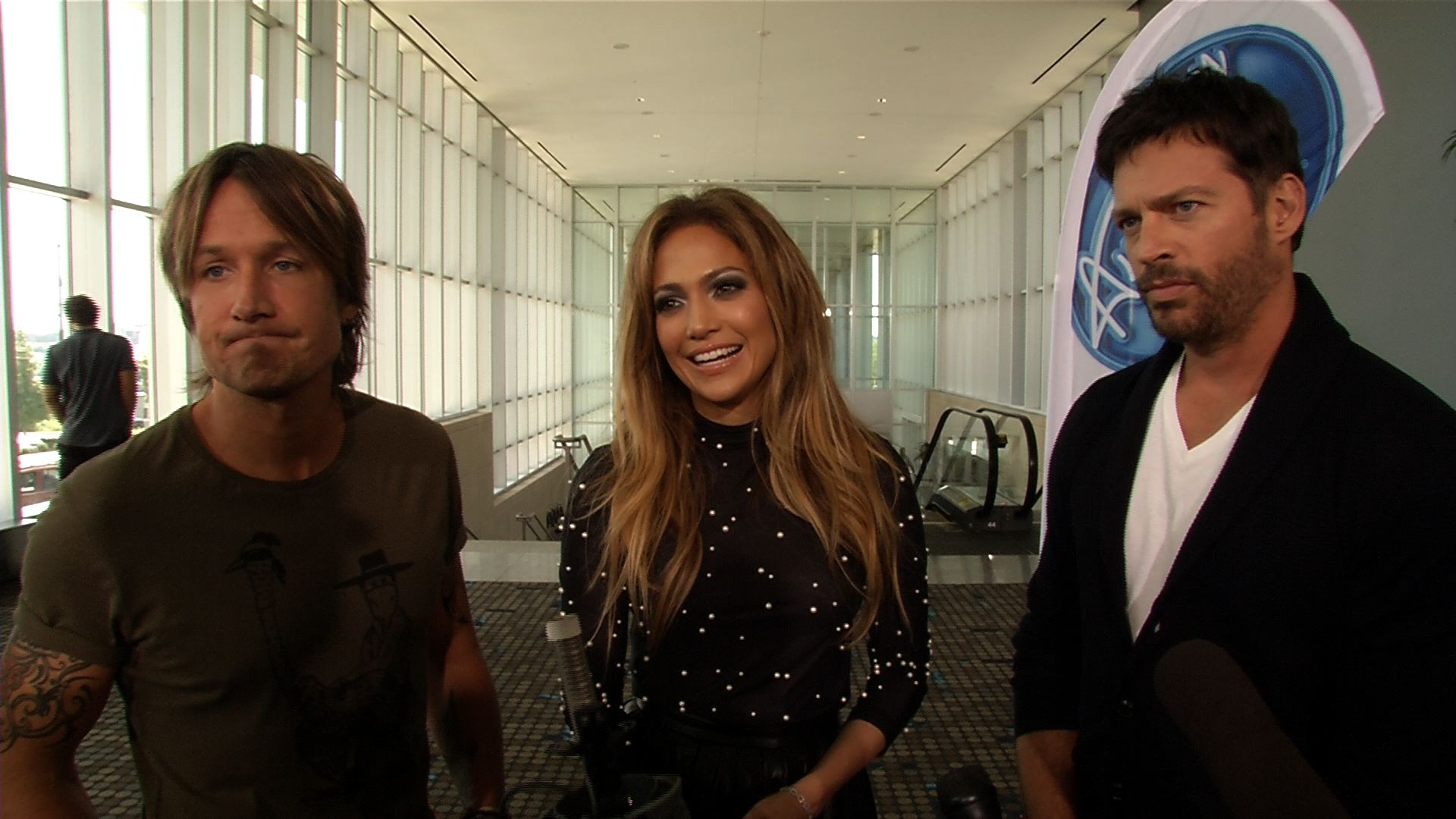 Interview with American Idol judges Keith Urban, Jennifer Lopez and Harry Connick Jr.