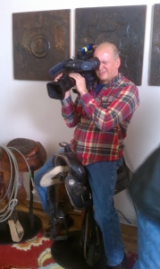 Craig captures shot from a unique bar stool from inside one home location for House Hunters.